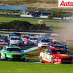 Fabian Coulthard leading a chaotic race at Phillip Island - Photo: Dirk Klynsmith
