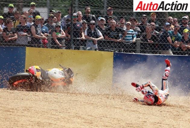 Marc Marquez crashes out of MotoGP - Photo: LAT