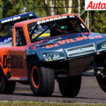The Matt Brabham Stadium Super Truck driven by Robby Gordon during the incident competing at Hidden Valley - Photo: Dirk Klynsmith