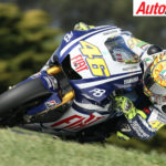 Valentino Rossi racing at Phillip Island MotoGP - Photo: LAT