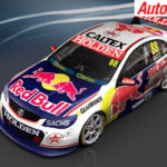 Red Bull Holden Racing teams retro livery for the Sandown 500