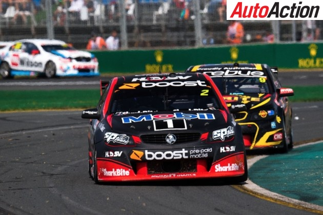 Scott Pye on track in the the #2 Mobil 1 HSV Racing Holden Commodore - Photo: LAT