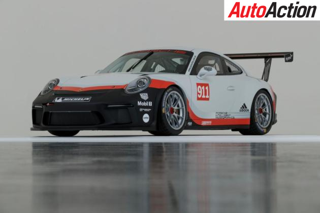 The new 2018 Porsche Carrera Cup car