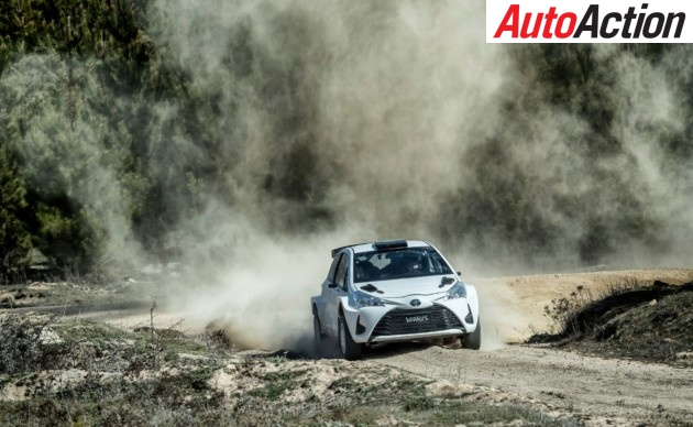 Harry Bates shaking down the new Toyota Yaris ahead of Rally SA - Photo: Supplied